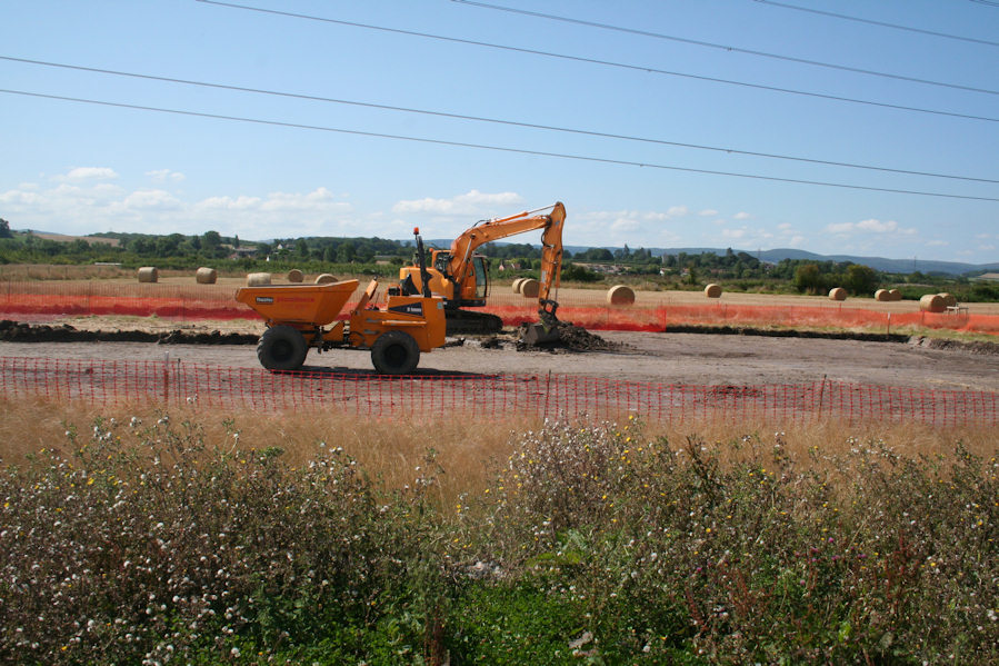 Steart Marshes starting work on the water treatement system for the Environment Agency and The Wildfowl & Wetlands Trust